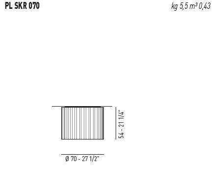 AXO Light Skirt PL 070 Plafon biały 70 cm