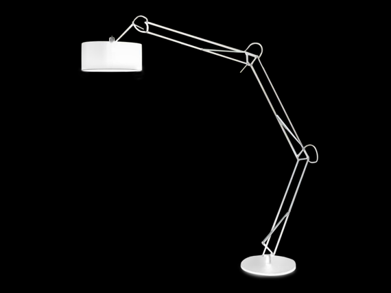 AZzardo BOSSE biała Lampa Podłogowa