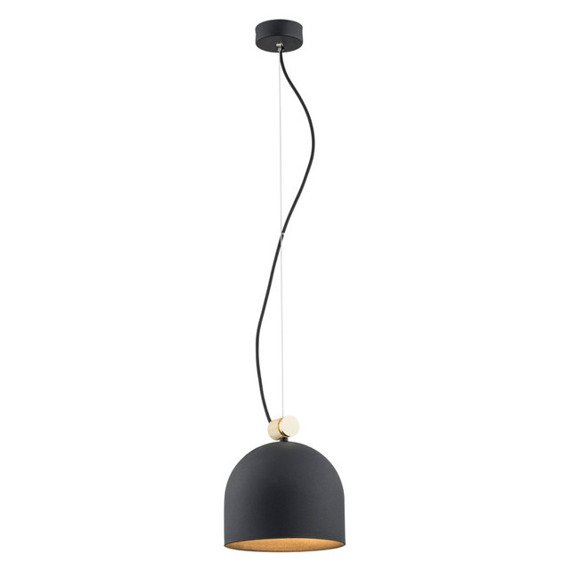 Argon Lanzarote  Lampa wisząca z czarnym kloszem