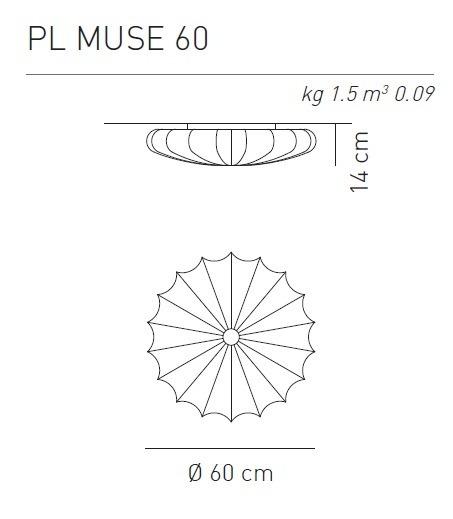 Axo Light MUSE 60 lampa sufitowa biała Wysyłka 24H