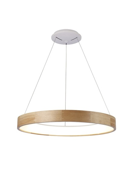 Azzardo Silvam AZ3344 Lampa wisząca drewniana LED