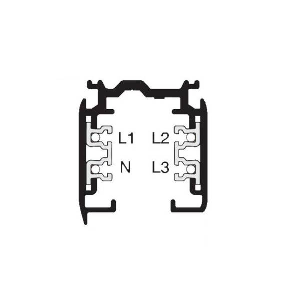 Azzardo Szyna 3 fazowa montażowa 1 m AZ2991 Biała
