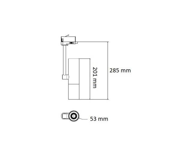 Berella Light Pona BK BL5195 Lampa do szynoprzewodu 3 fazowa ledowa