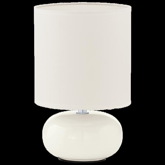 Biała lampka stołowa