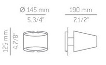 ESTILUZ Mikonos A-2520 Lampa Ścienna niklowana