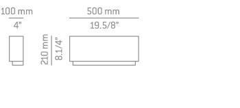 Estiluz LIBRA A-2810 Lampa Ścienna