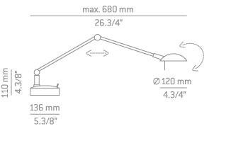Estiluz M-1137 Lampka Biurkowa niklowana