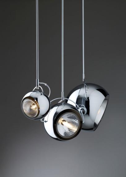 Fabbian BELUGA STEEL D57 A09 15 Lampa wisząca
