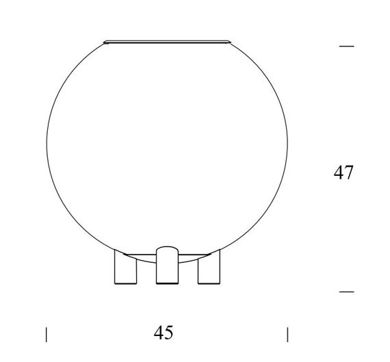 Fontana Arte GLOBO DI LUCE 3667/1 lampka