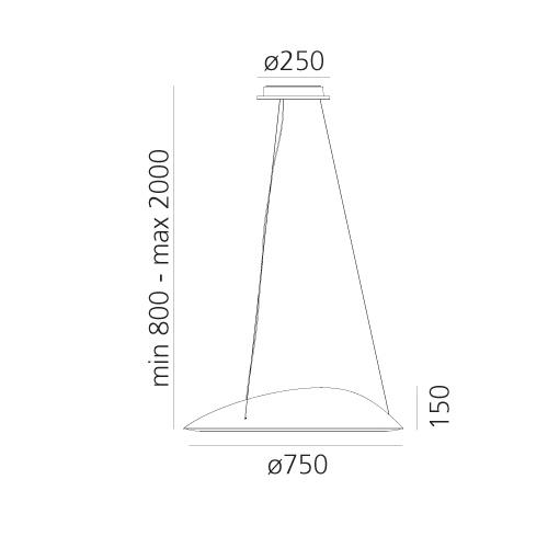 Lampa Led Artemide Ameluna 1401010A