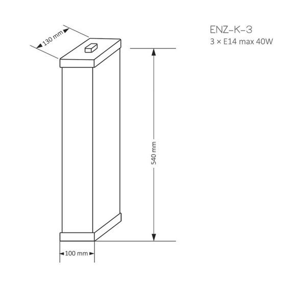 Lampa Ścienna Kutek Mood Enzo ENZ-K-3(ZM) Patyna
