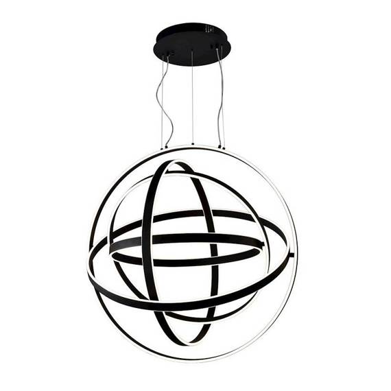 Lampa Wisząca Duża Kula Milagro Copernicus 260 W Led Czarna 85 cm