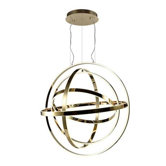 Lampa Wisząca Duża Kula Milagro Copernicus 260 W Led Złota 85 cm ML6148