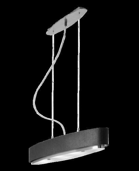 Lampa Wisząca Estiluz Iris T-2711 czarno/niklowa