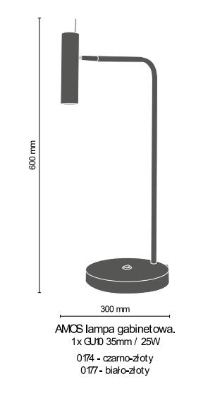 Lampa biurkowa Amplex Amos 0174