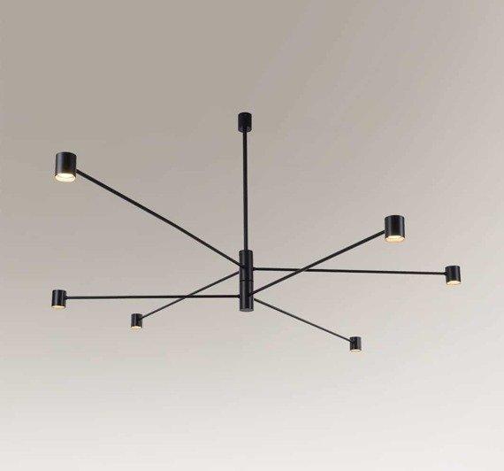 Lampa na wysięgnikach obracanych Shilo Sakata 7828 Czarna