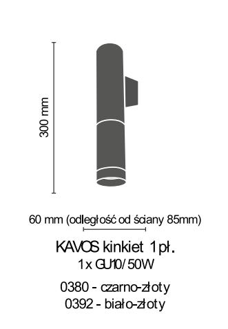 Lampa ścienna Amplex Kavos 0380
