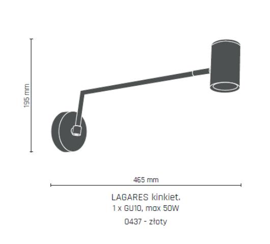 Lampa ścienna Amplex Lagares 0437