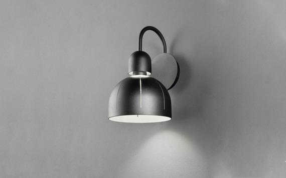 Lampa ścienna Masiero Cupolè A czarna