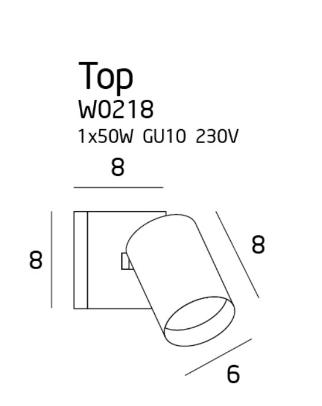 Lampa ścienna MaxLight Top W0218