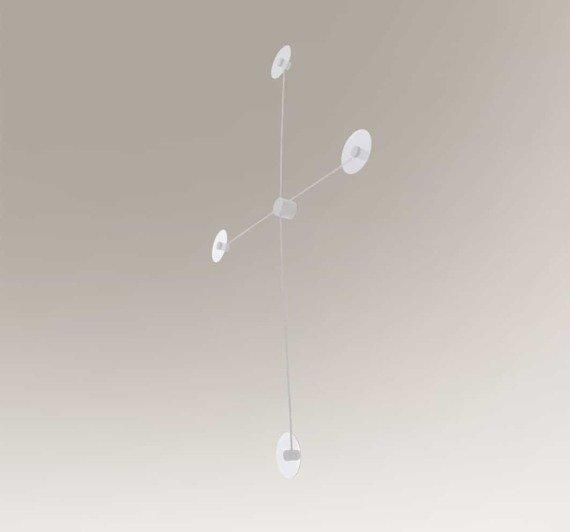 Lampa ścienna Poczwórna Shilo Furano 7815 Biała