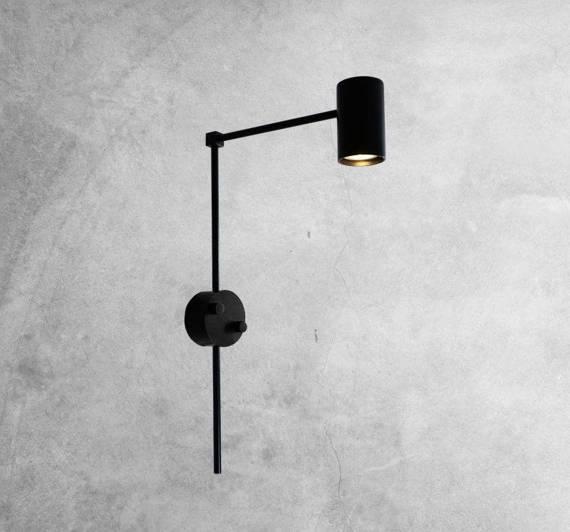 Lampa ścienna długa Shilo Dakata 4490 Czarny