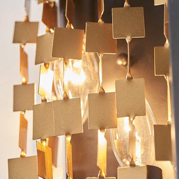 Lampa ścienna loft Endon Daya 2 81960 Czarny/Złoty