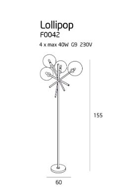 Lampa stojąca MaxLight Lollipop F0042