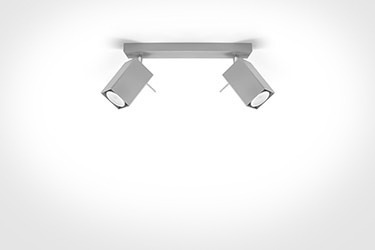 Lampa sufitowa Sollux Merida 2 szary SL.0456