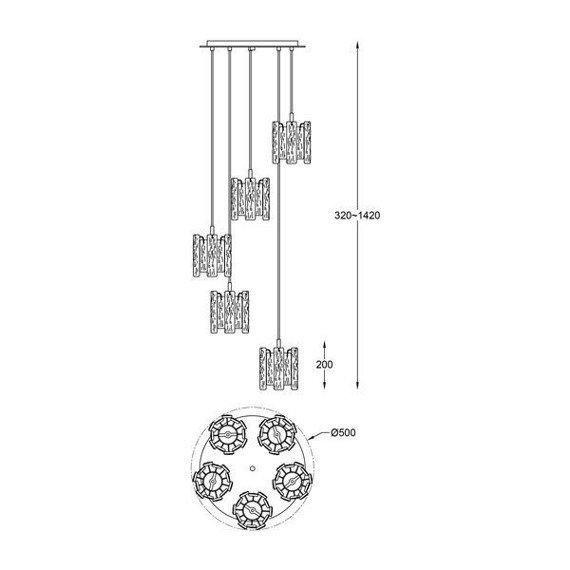 Lampa wisząca Zuma Line Froze P0509-05D-B5AC