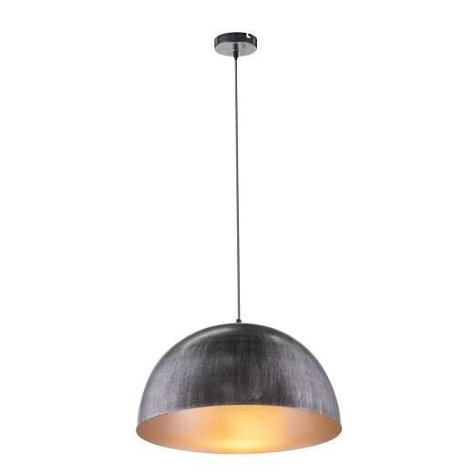 Lampa wisząca z czarnym metalowym kloszem Globo Lighting Sandra 58323HS