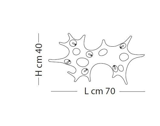 Lampade Italiane BAOBAB LP 1057/40 biała Lampa Ścienna/ Sufitowa