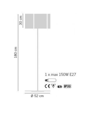 Lampade Italiane REFLEX 1001/180 Lampa Podłogowa orange