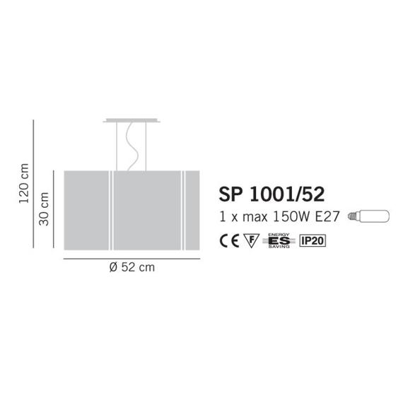Lampade Italiane REFLEX 1001/52 Lampa Wisząca 52 cm cristal