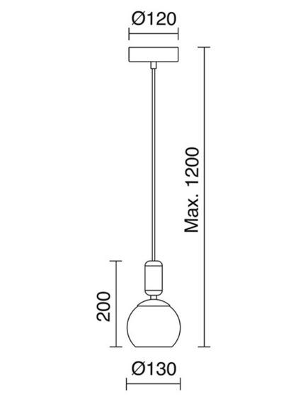 Novolux Exo Żyrandol Cupertino 699A-L0105B-37
