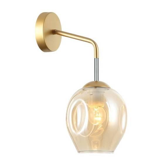 Nowoczesna Lampa ścienna Italux Borgo WL-30843-1 GD+AMB