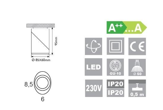 OLE iluminacion Elipse L17014/1WE Wenge Lampa Ścienna