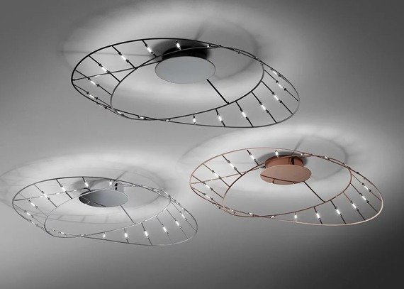 Sforzin Tesa Piccola Cromo Lampa sufitowa nowoczesna LED