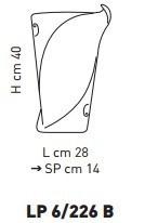 Sillux ATENE LP 6/226 B Lampa Ścienna 28 x 40 cm