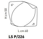 Sillux ATENE LS P/226 Lampa Sufitowa 60 x 50 cm