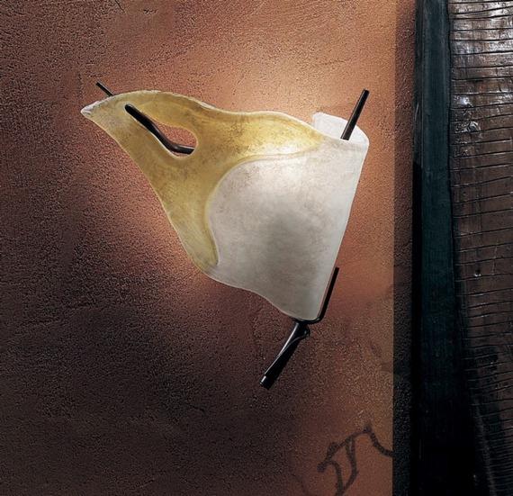 Sillux FIRENZE LP 6/212 B  bursztynowy/miedziany 48 cm Lampa Ścienna