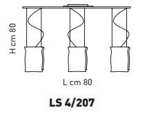 Sillux MURANO LS 4/207 Lamap Sufitowa