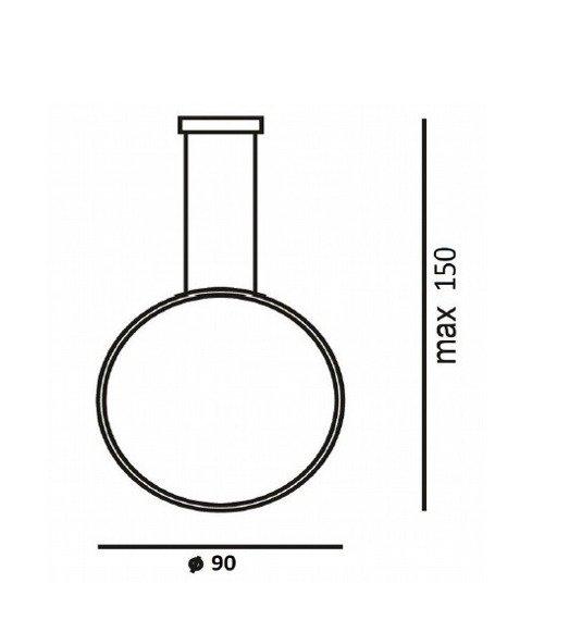Zwis Ramko Echo Vertical 67951 kolor czarny 90 cm