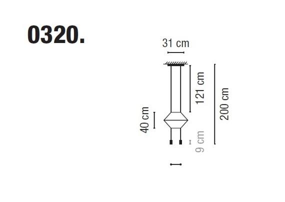 Zwis Wireflow 0320-04 Vibia czarna