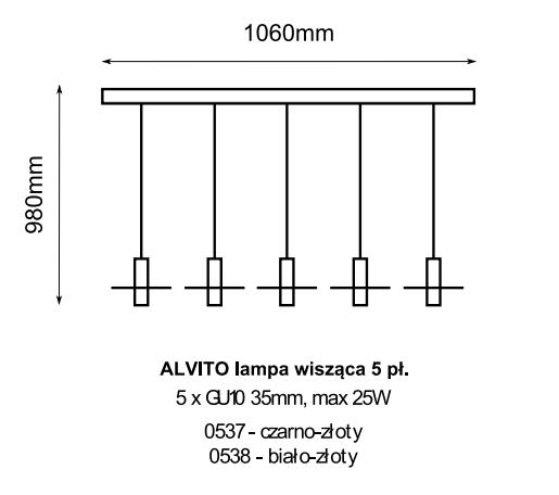 Żyrandol Amplex Alvito 0537