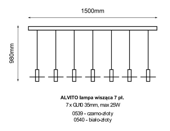 Żyrandol Amplex Alvito 0539