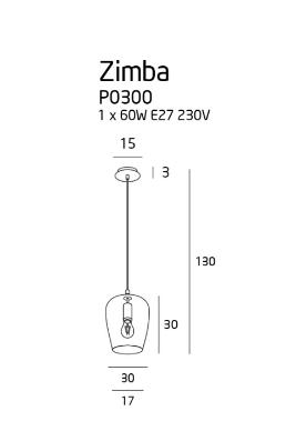 Żyrandol MaxLight Zimba Amber P0300