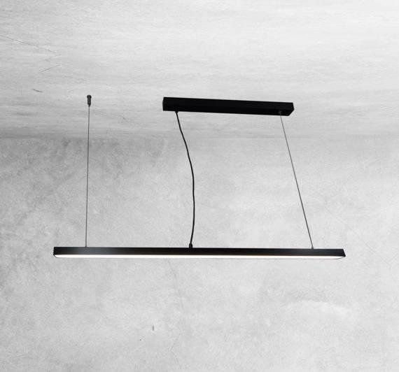 Żyrandol Shilo Hiate 1848 Czarny 120 cm